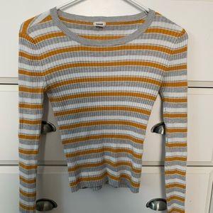 Yellow striped long sleeve shirt